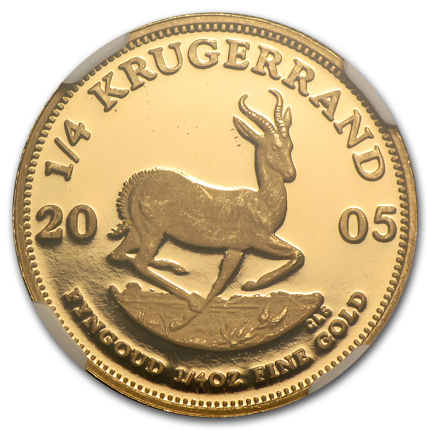 2005 1/4 oz Gold South African Krugerrand PF-66 NGC