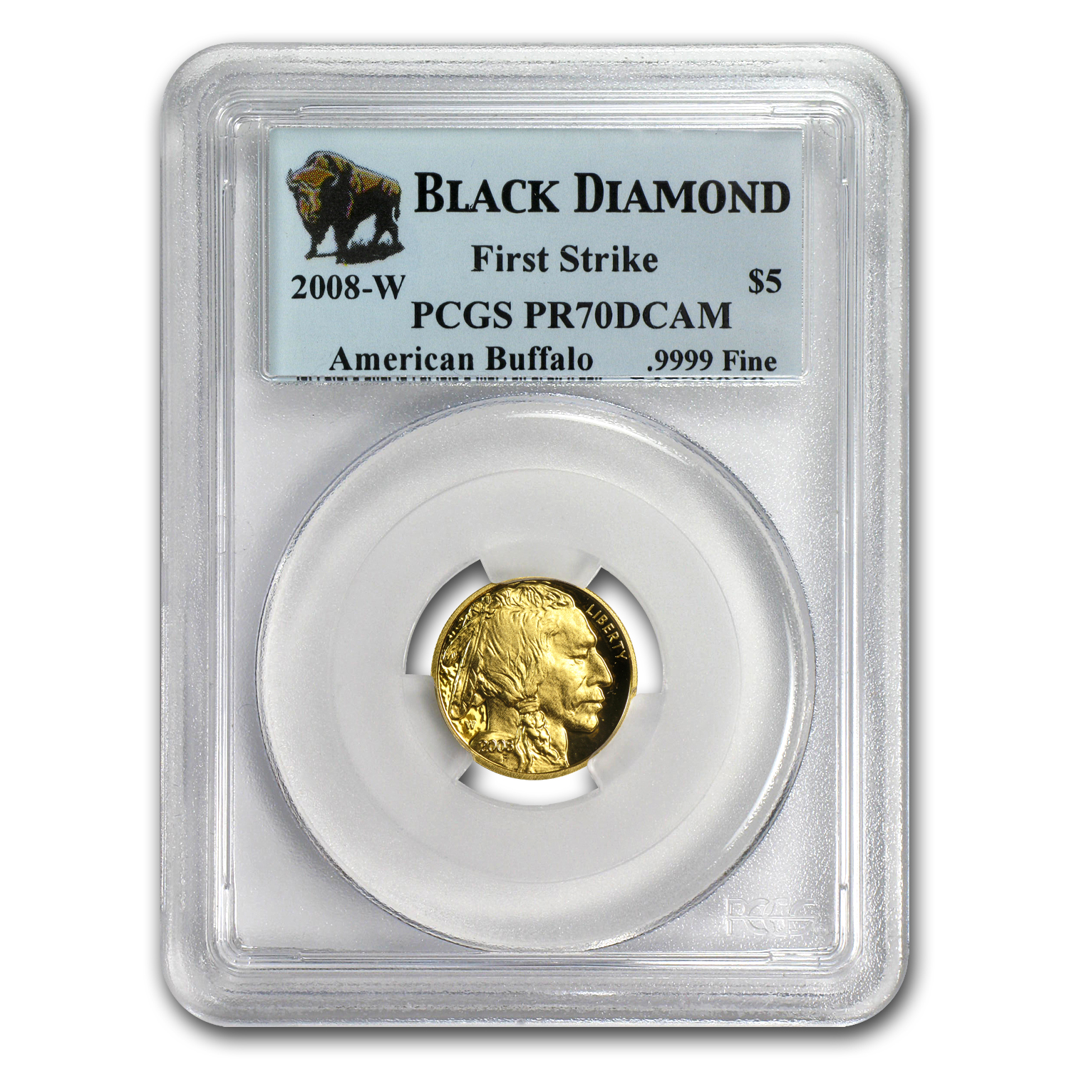 2008-W 1/10 oz Proof Gold Buffalo PR-70 PCGS (FS, Black Diamond)