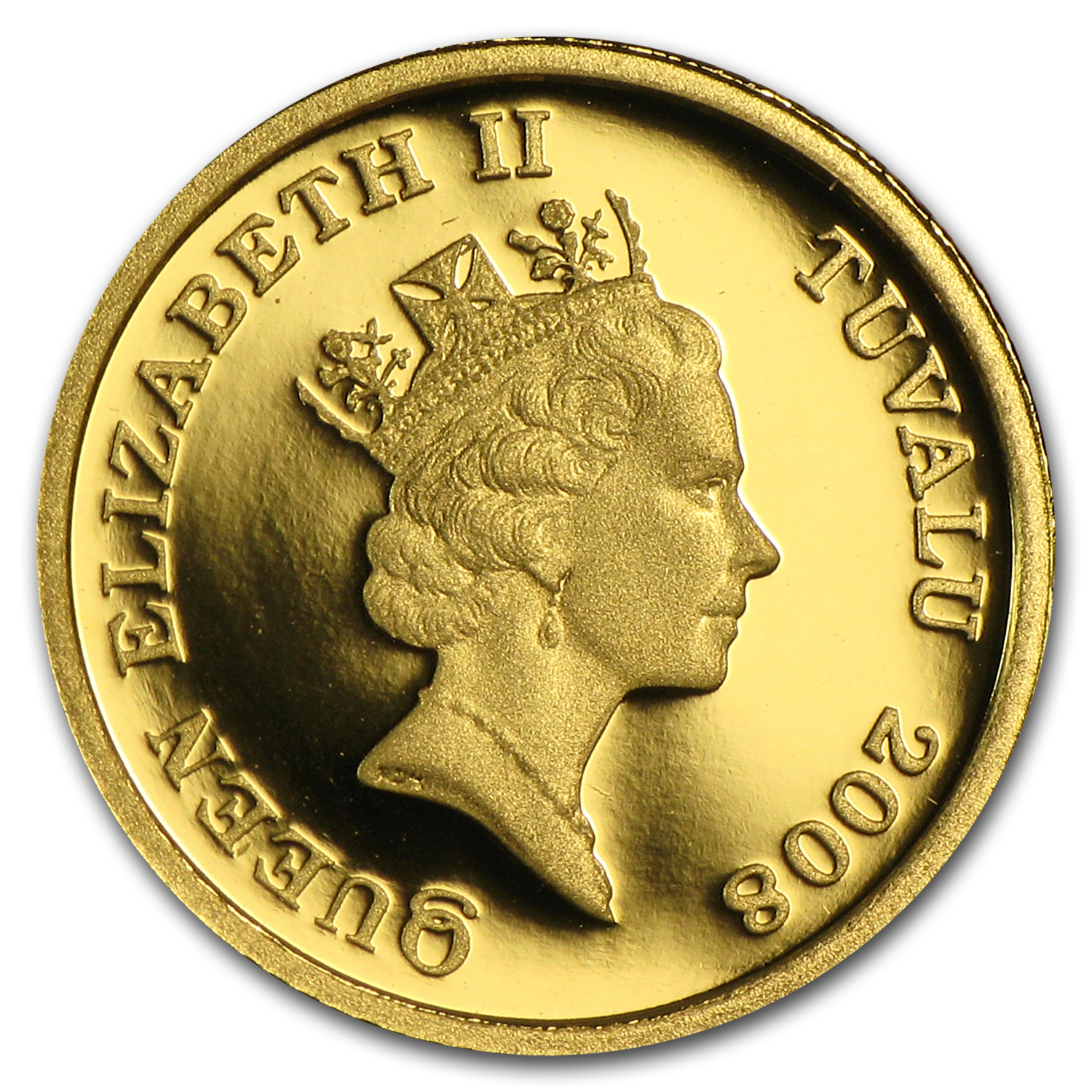 2008 Tuvalu 1/25 oz Proof Gold Horse