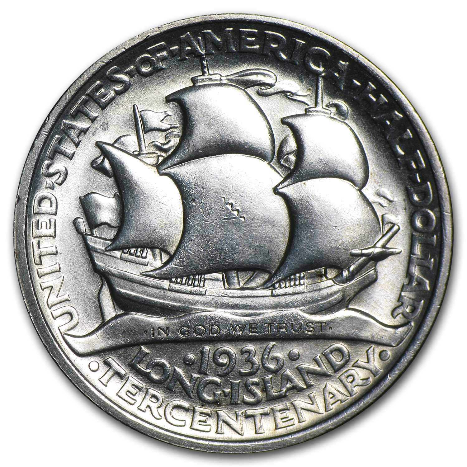 1936 Long Island Tercentenary Half Commem BU