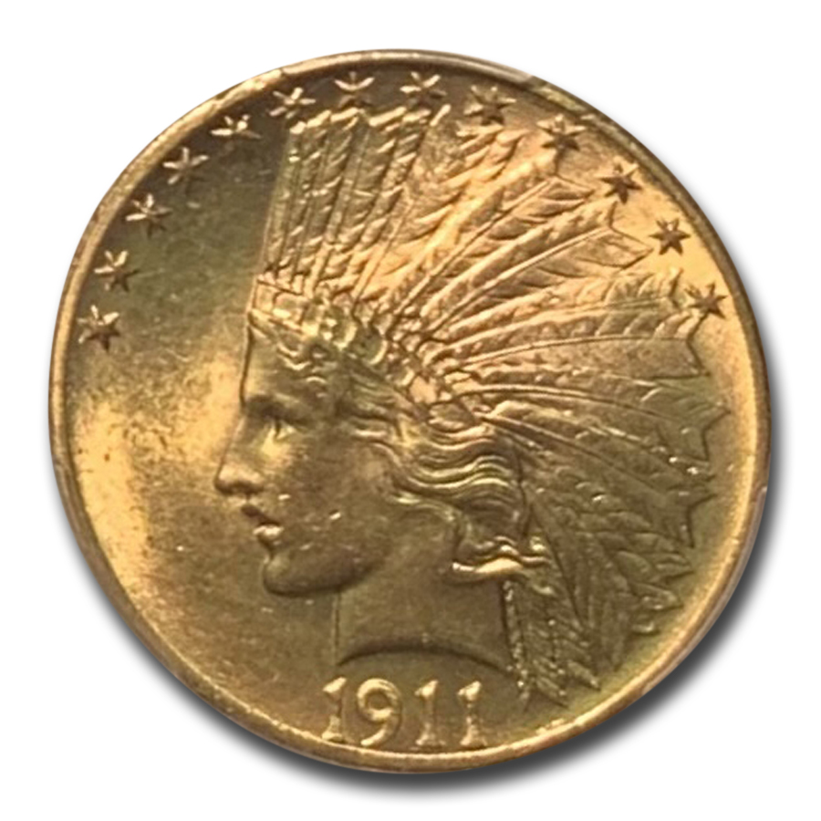 1911 $10 Indian Gold Eagle - MS-63 PCGS