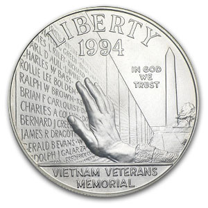 1994-W Vietnam Veterans Memorial $1 Silver Commem - MS-69 NGC
