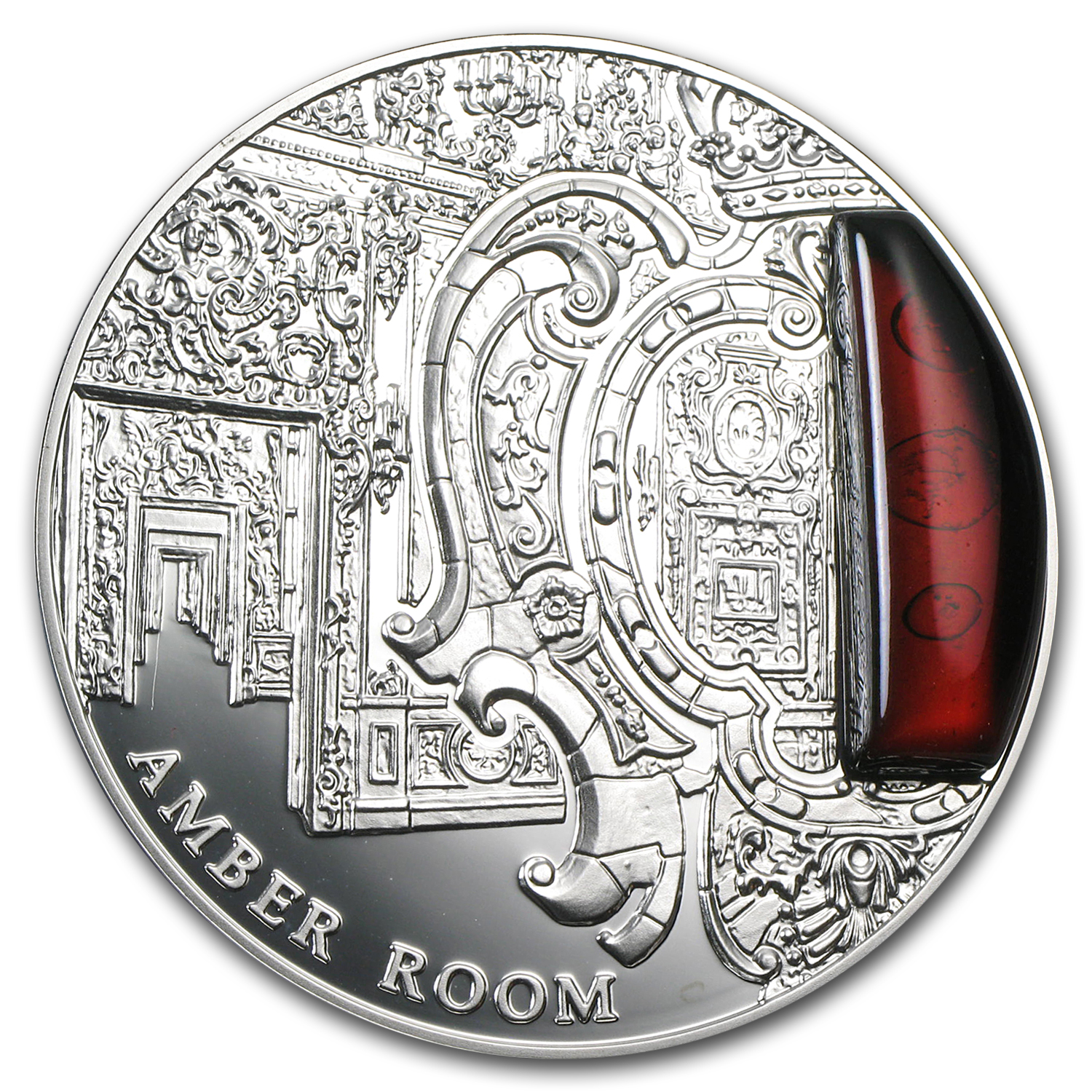 2012 Niue Proof Silver $2 Mysteries of History Amber Room
