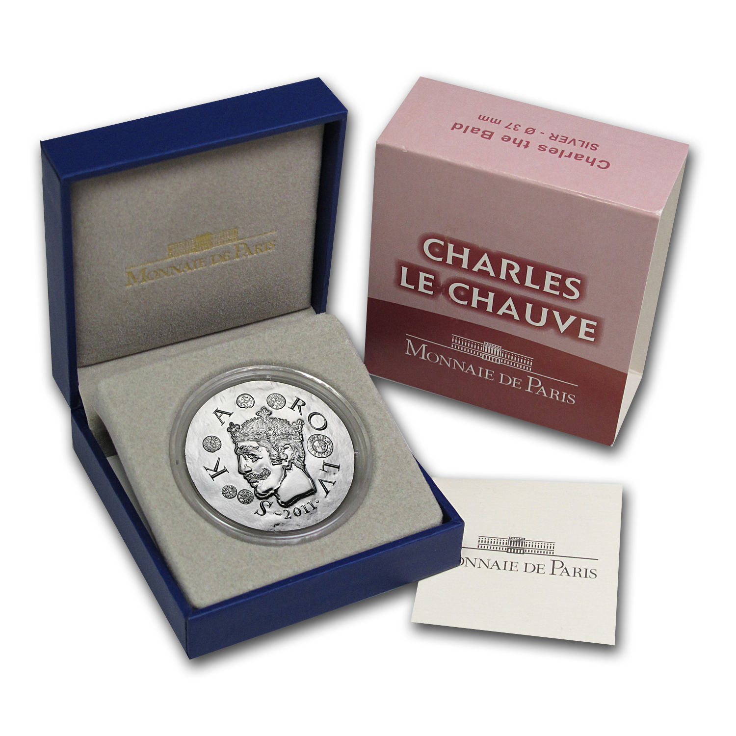2011 France Silver €10 Legendary Collection Proof (Chas Le Bald)