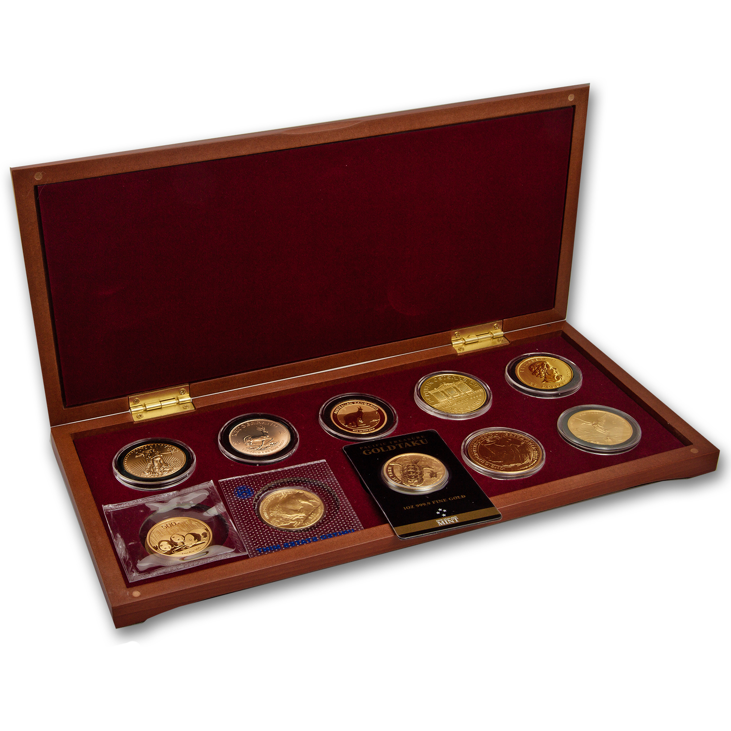 2013 1 oz 10-Coin Around the World Gold Bullion Set