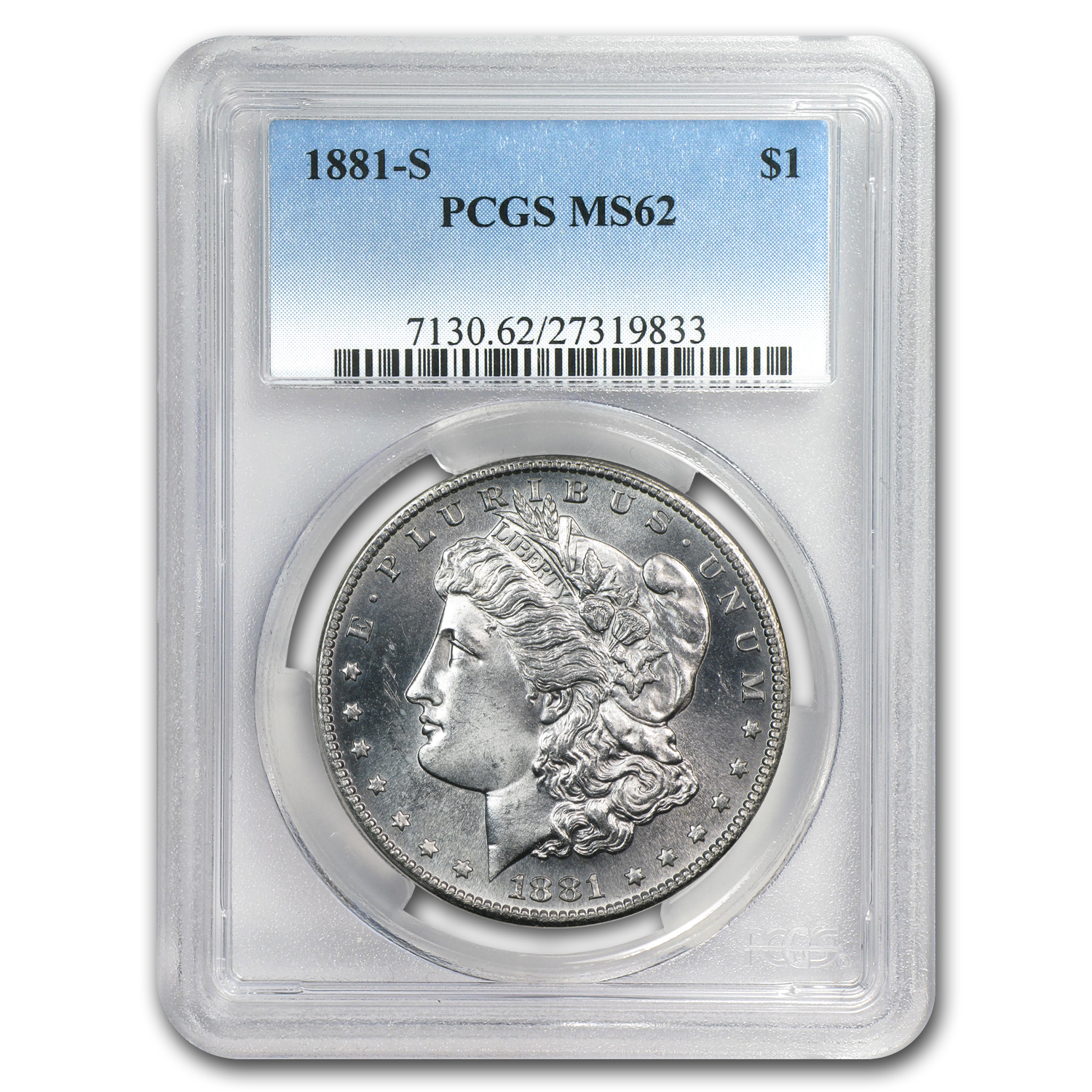 1878-1904 Morgan Dollars - MS-62 PCGS (San Francisco Mint)
