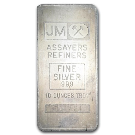 10 Oz Silver Bar Johnson Matthey Made For Td Bank 10