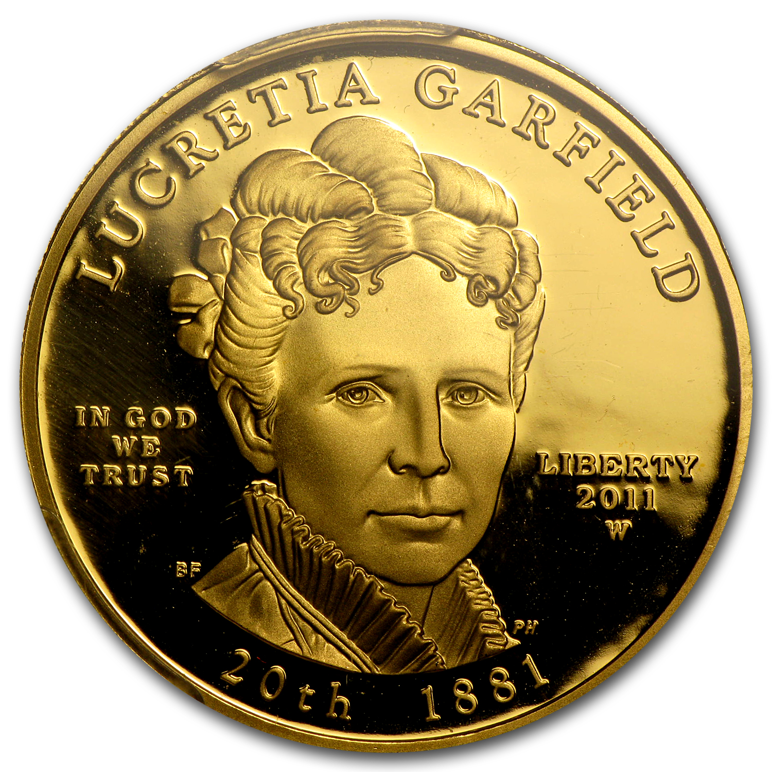 2011-W 1/2 oz Proof Gold Lucretia Garfield PR-69 PCGS