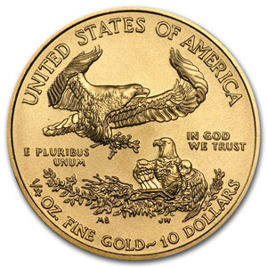 2014 1/4 oz Gold American Eagle (BU) (w/ U.S. Mint Box)
