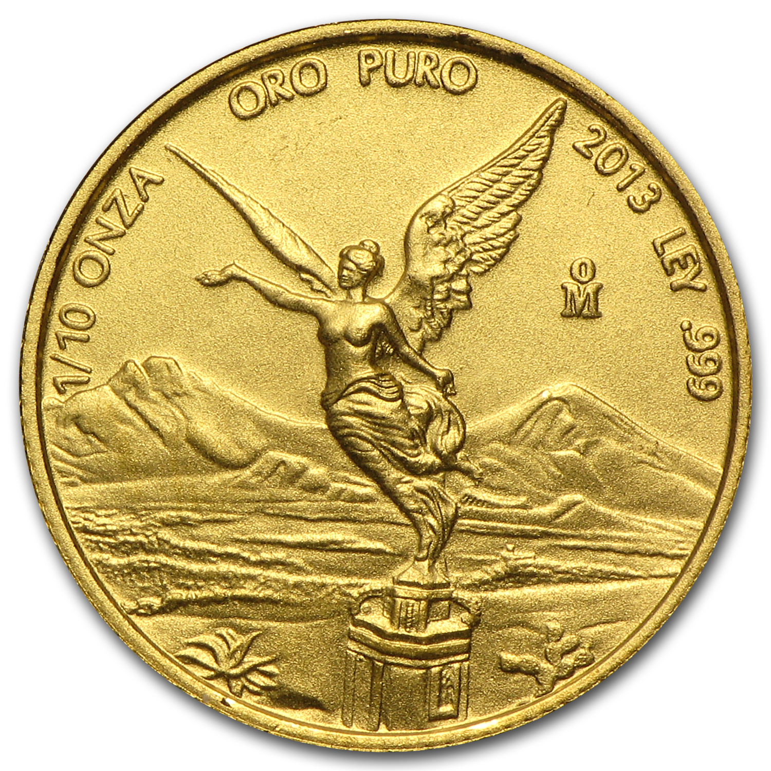 2013 Mexico 1/10 oz Gold Libertad BU