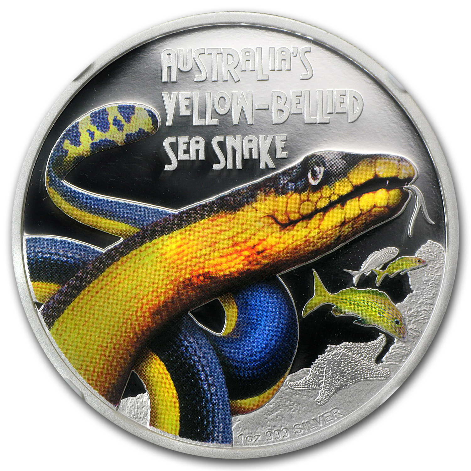 2013 Tuvalu 1 oz Silver Yellow-Bellied Snake PF-70 NGC (ER)