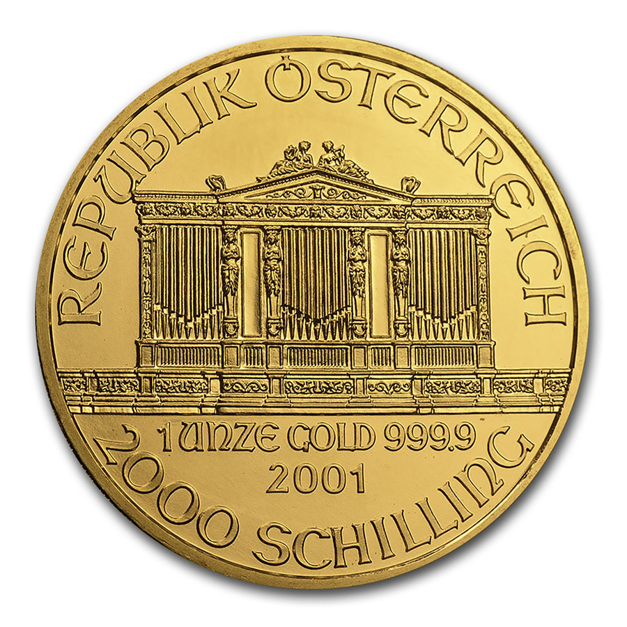 2001 1 oz Gold Austrian Philharmonic