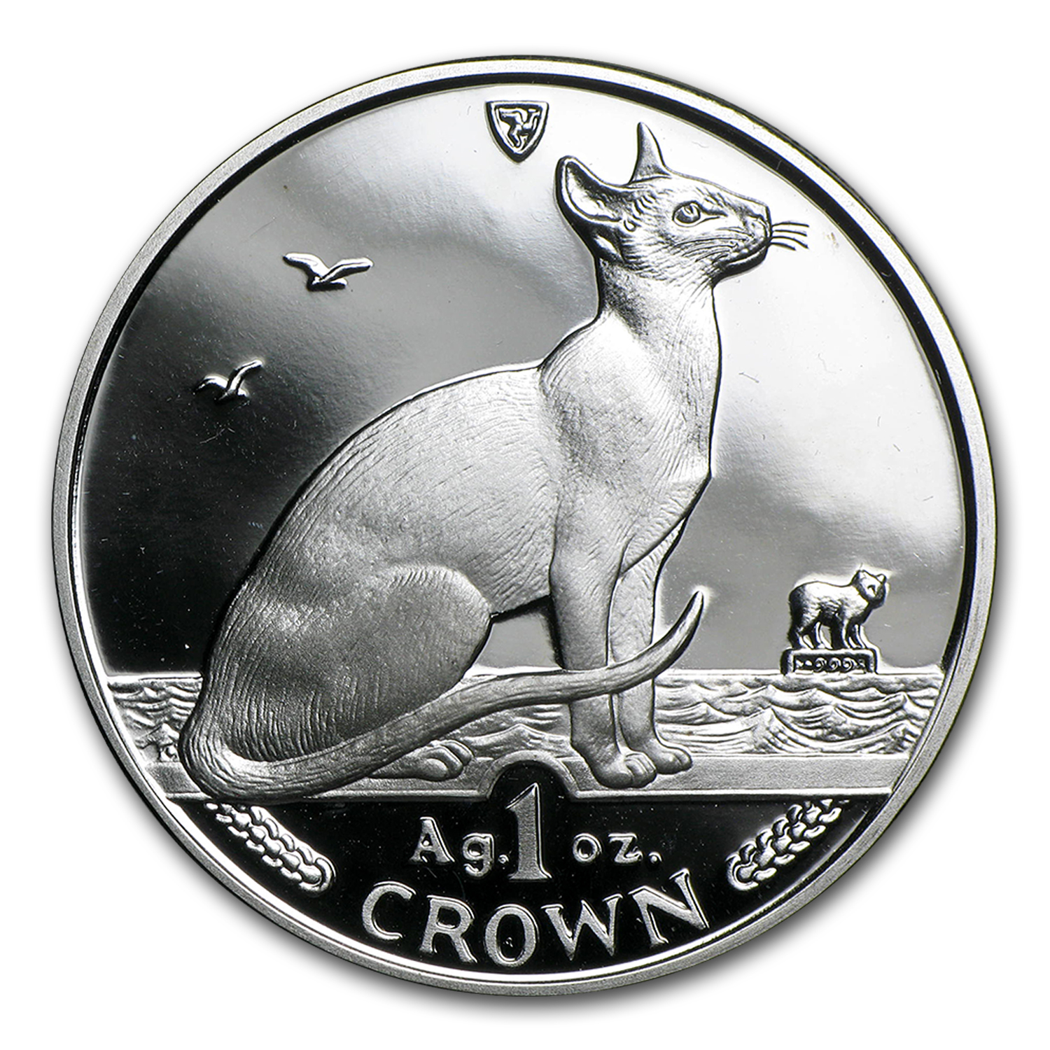 Isle of Man 1 oz Silver Cats (Random Dates, Abrasions)