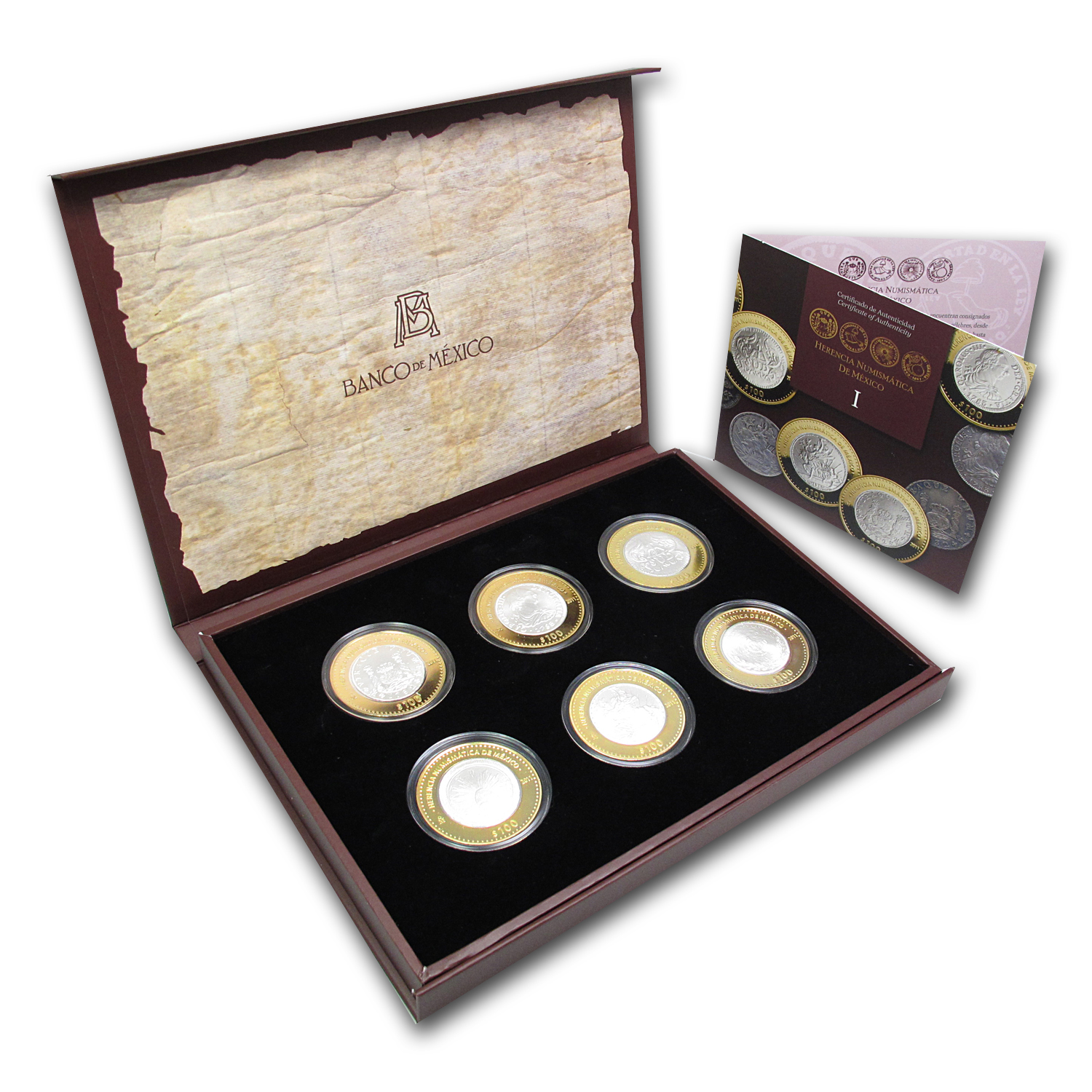 2011 Mexico 6-Coin Silver Numismatic Heritage Set (Series I)