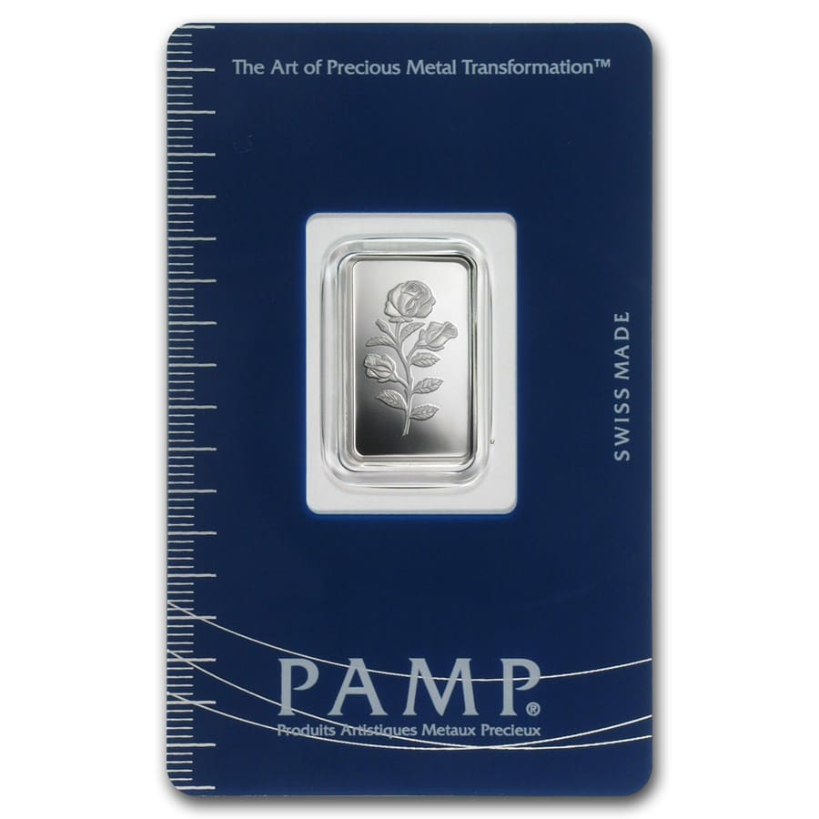 2.5 gram Silver Bar - PAMP Suisse (Rosa, In Assay)