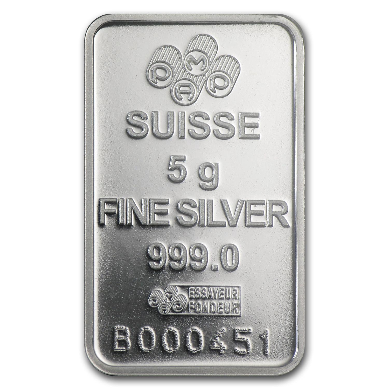 5 Gram Silver Bar Pamp Suisse Rosa Pamp Suisse