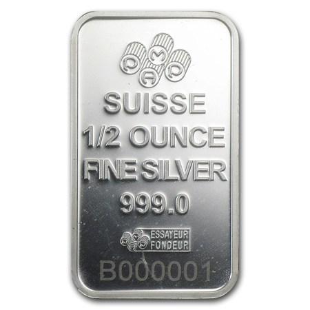 1 2 Oz Silver Bar Pamp Suisse Rosa Pamp Suisse