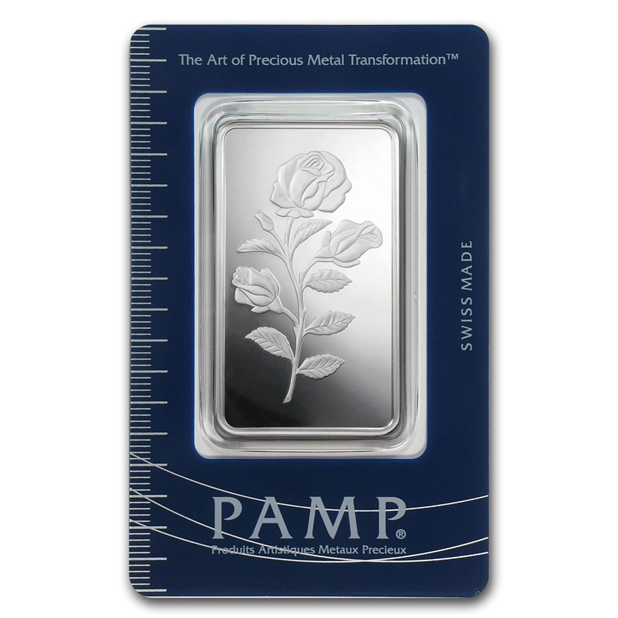 1 Oz Silver Bar Pamp Suisse Rosa Pamp Suisse Fortuna