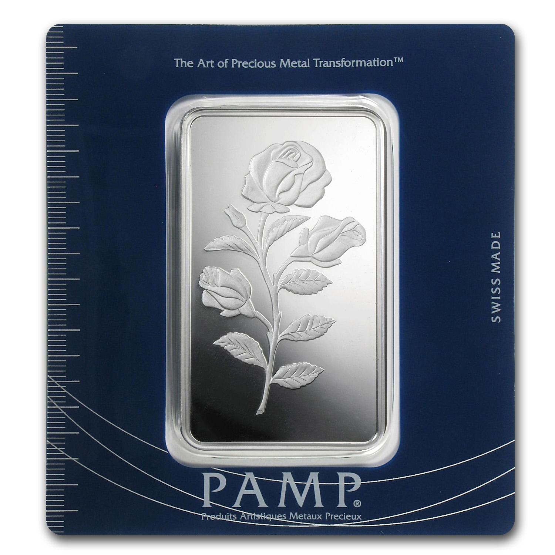 100 Gram Silver Bar Pamp Suisse Rosa Pamp Suisse