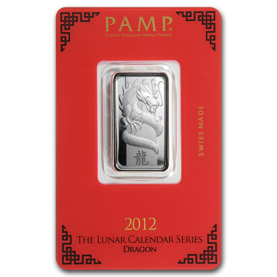 10 Gram Silver Bar Pamp Suisse Year Of The Dragon