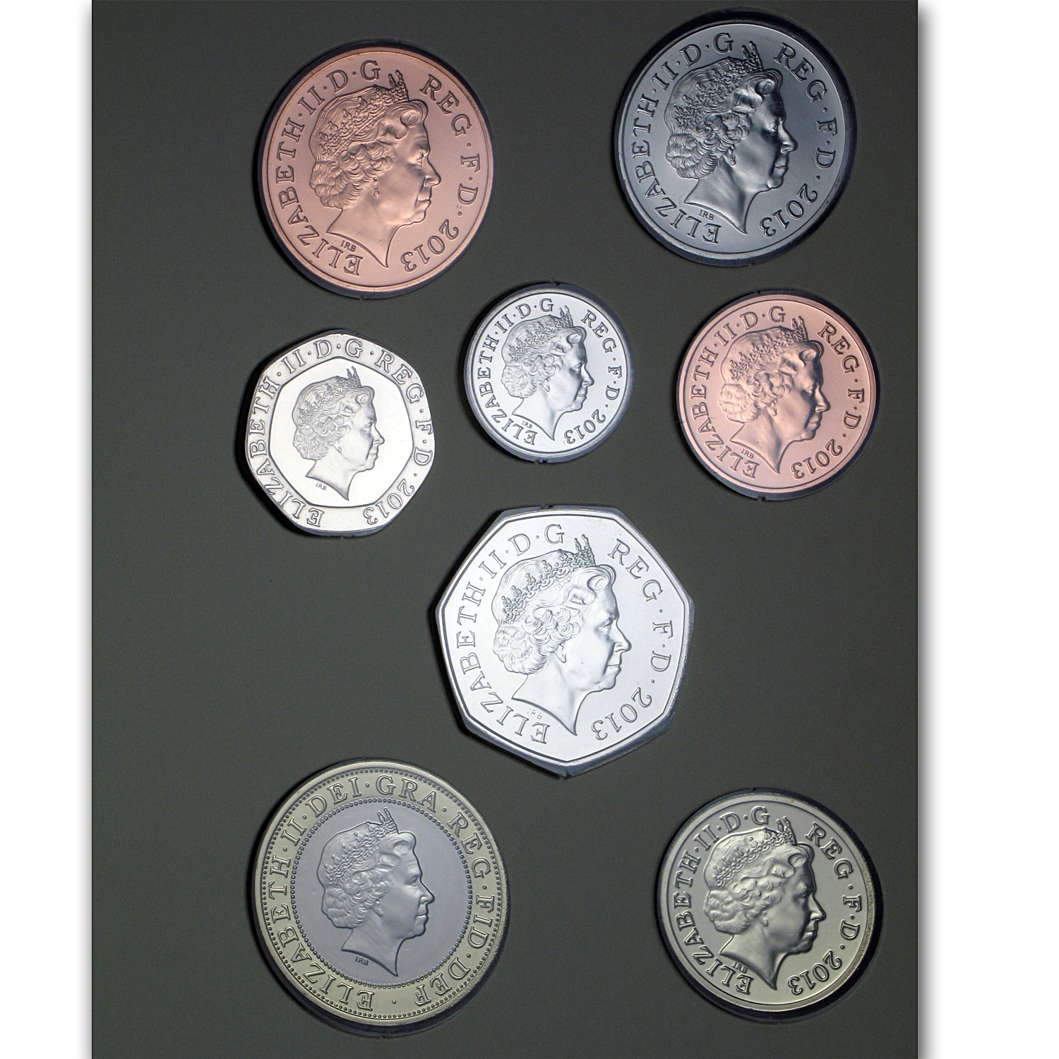 2013 Great Britain 8-Coin Baby Gift Set BU