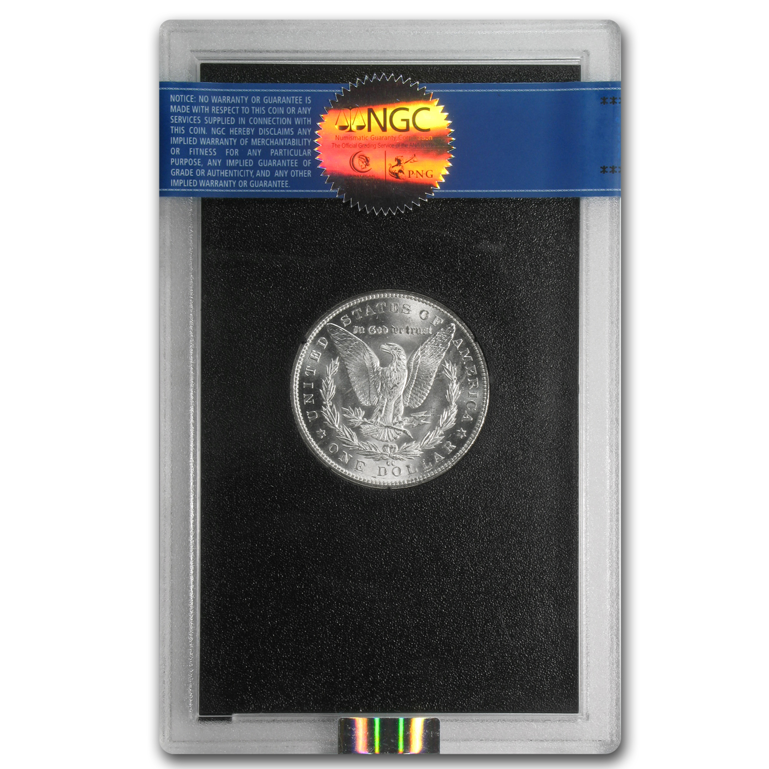 1882-1884-CC Morgan Dollar MS-63 NGC - GSA Holder