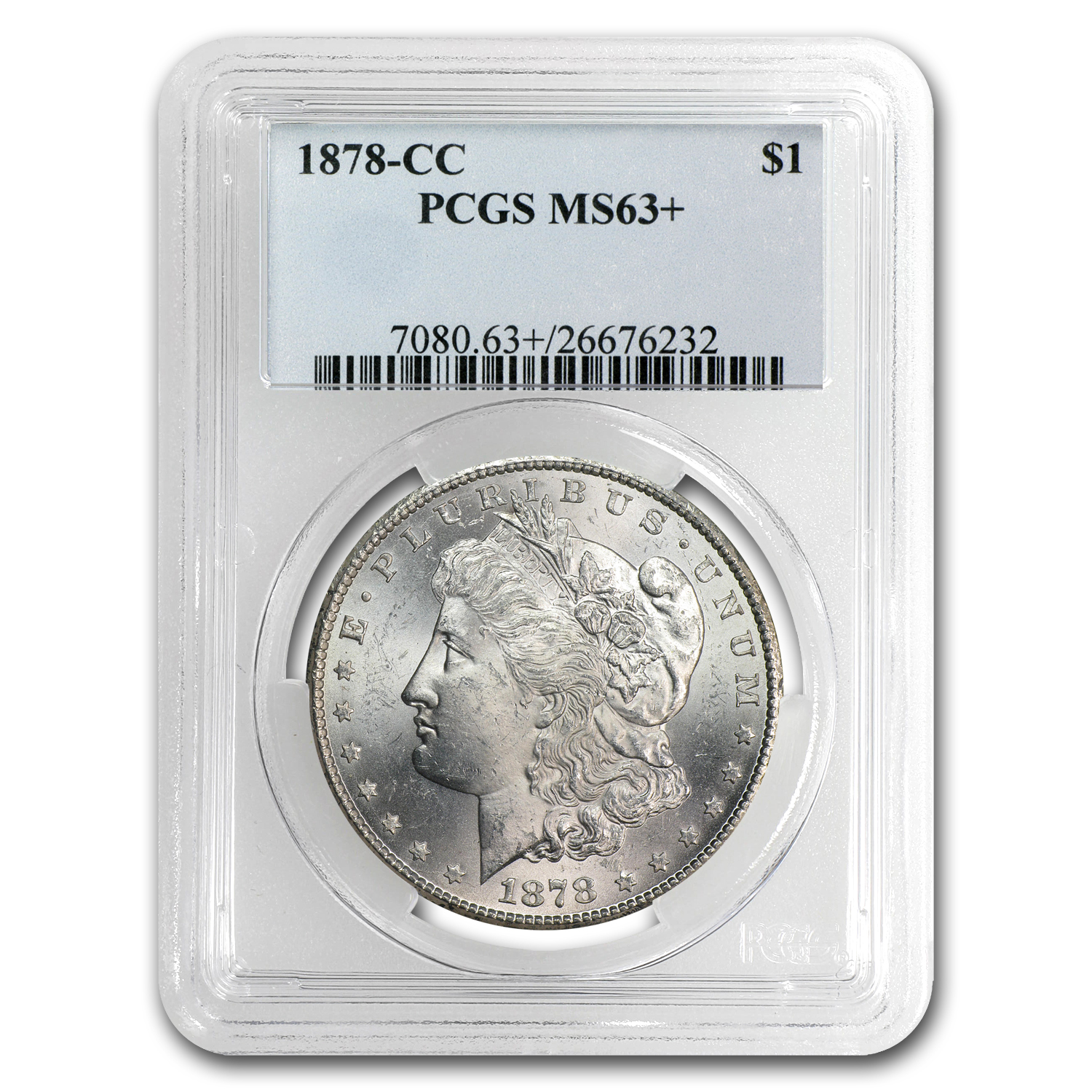 1878-CC Morgan Dollar - MS-63+ Plus PCGS