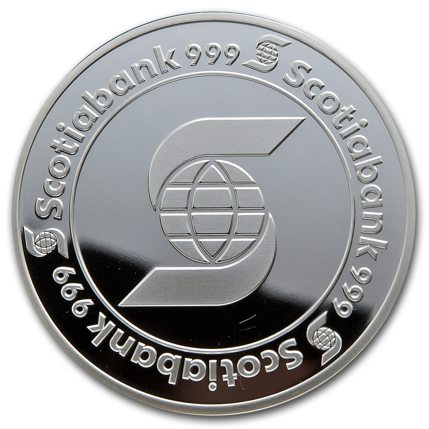 5 oz Silver Round - Scotiabank (w/Capsule)