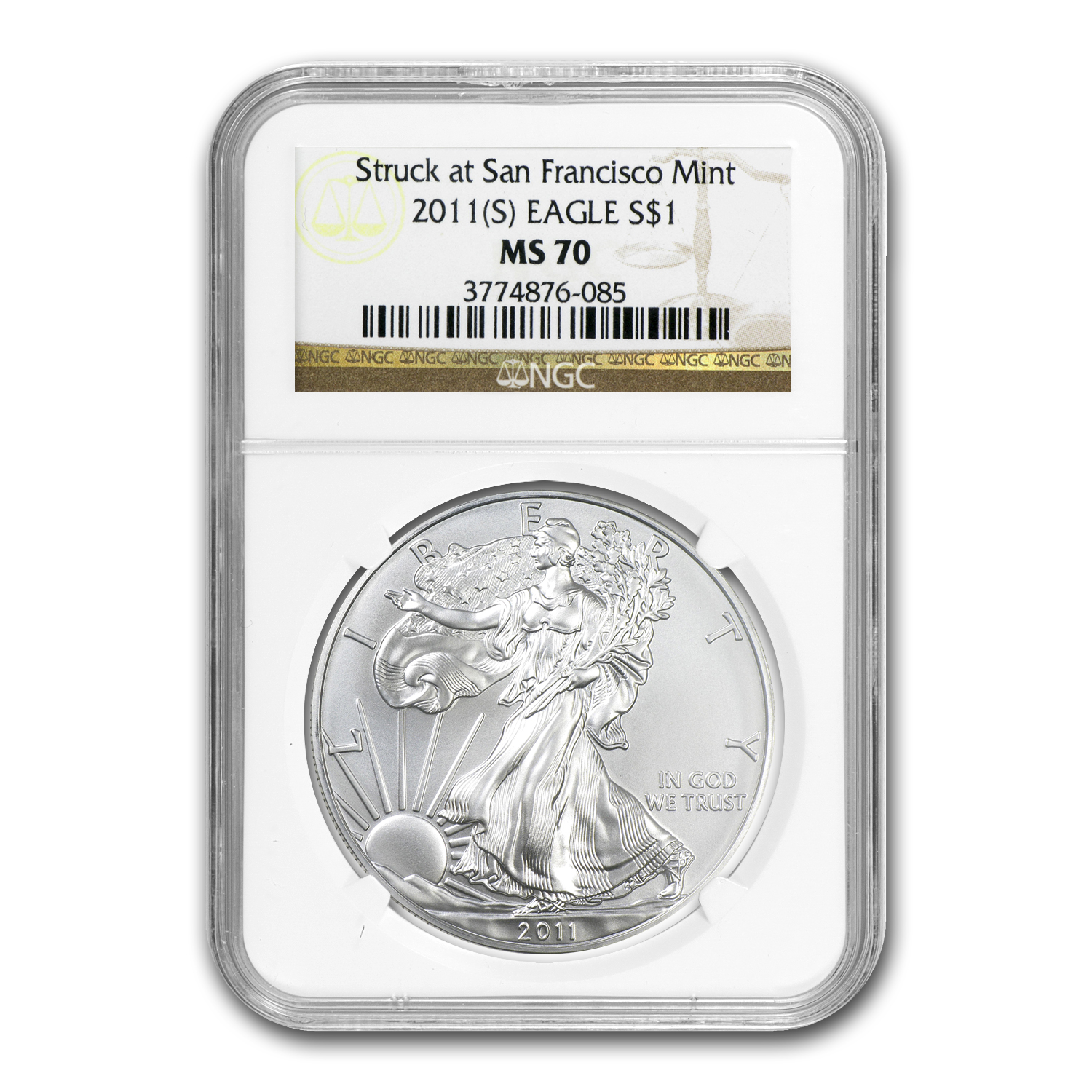 2011 (S) Silver Eagle - MS-70 NGC - San Francisco Label