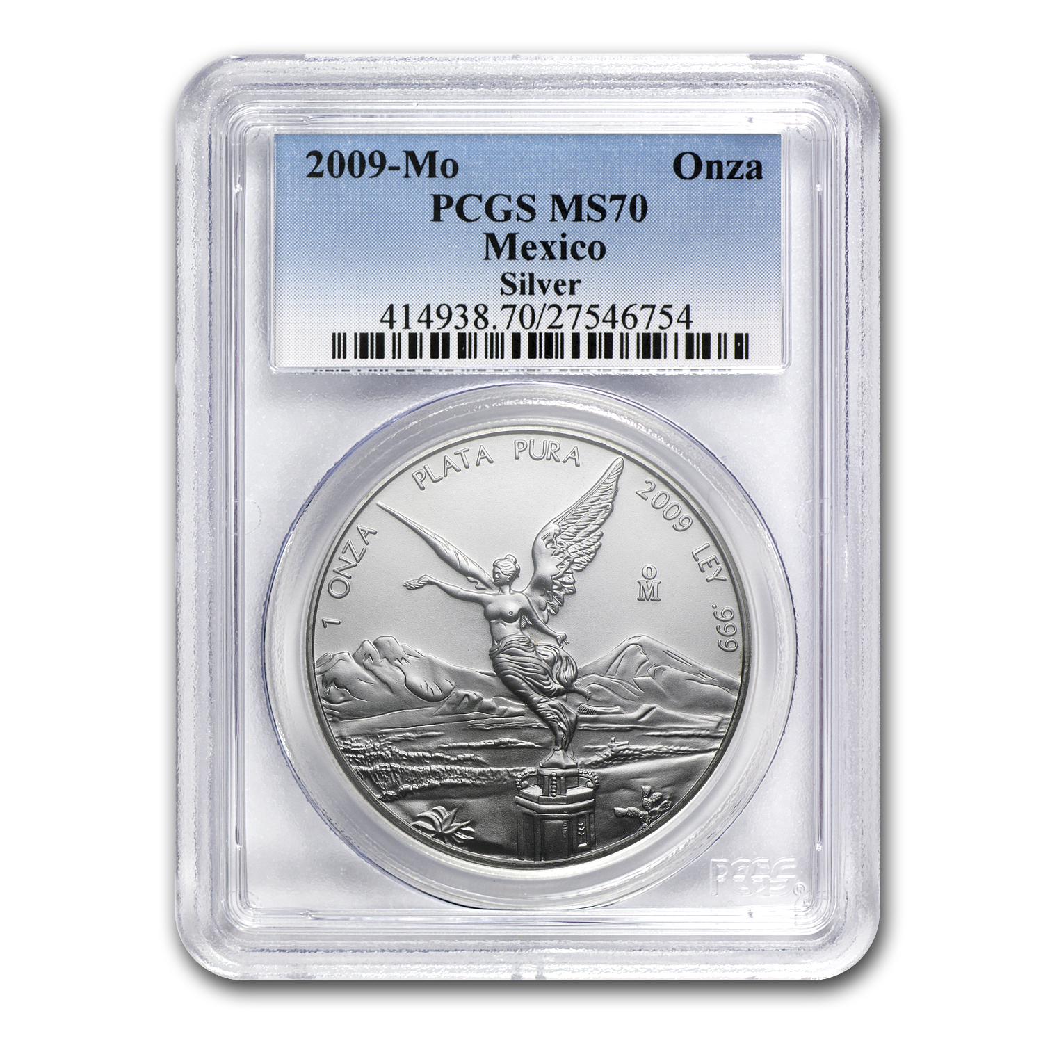 2009 1 oz Silver Mexican Libertad MS-70 PCGS