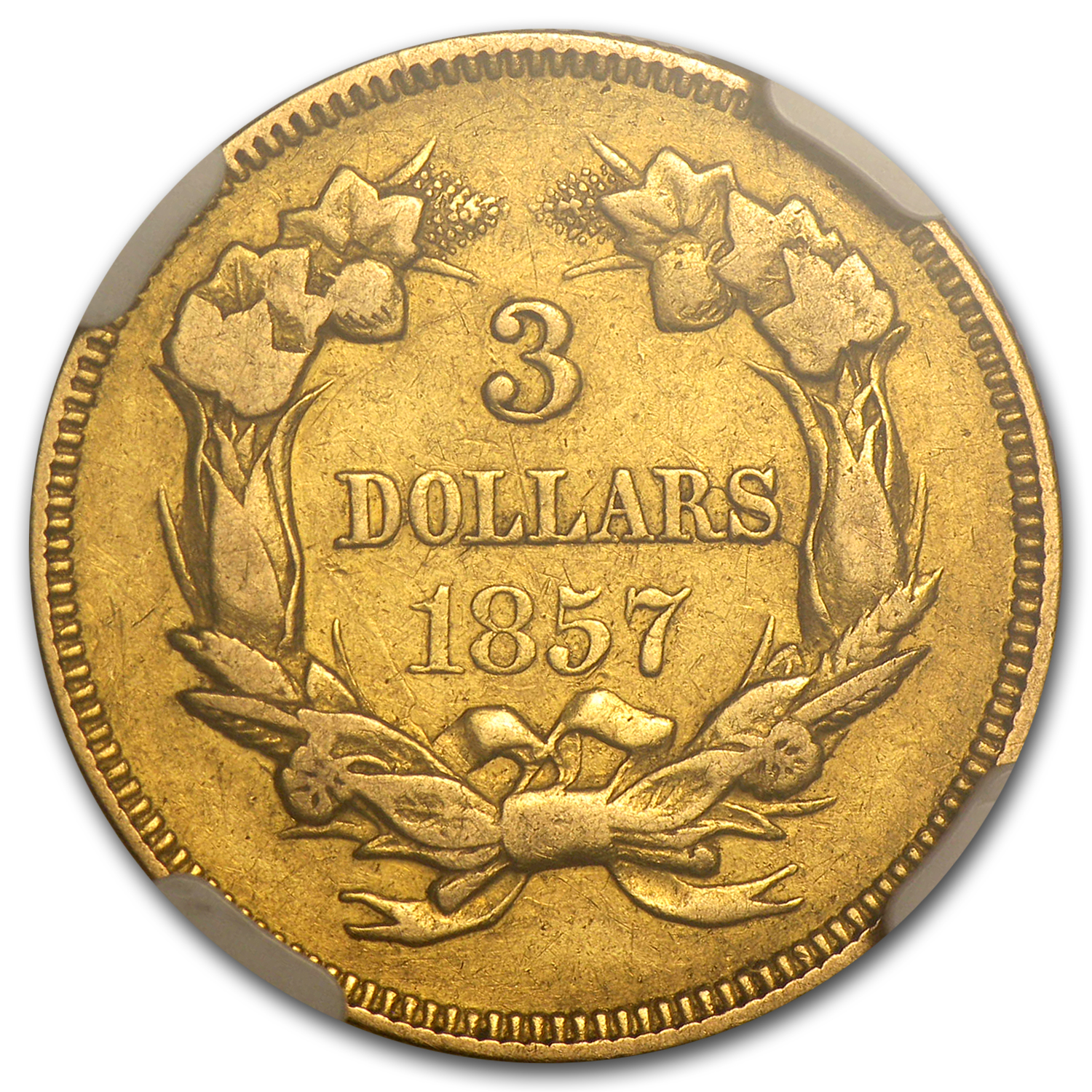 1857 $3 Gold Princess VF-30 NGC