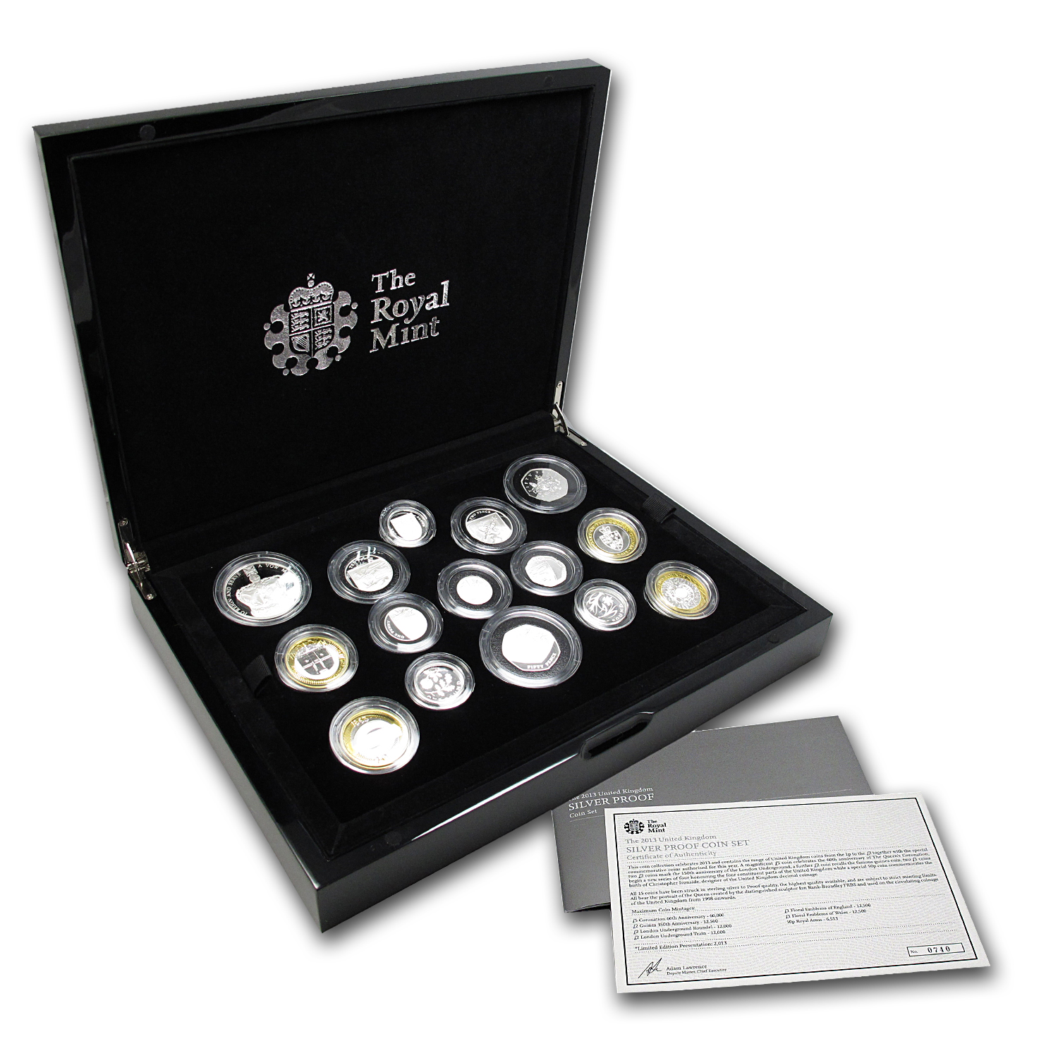 2013 15-Coin United Kingdom Silver Proof Set