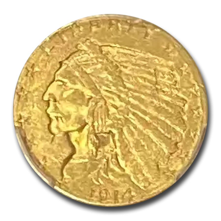 1914-D $2.50 Indian Gold Quarter Eagle MS-61 PCGS