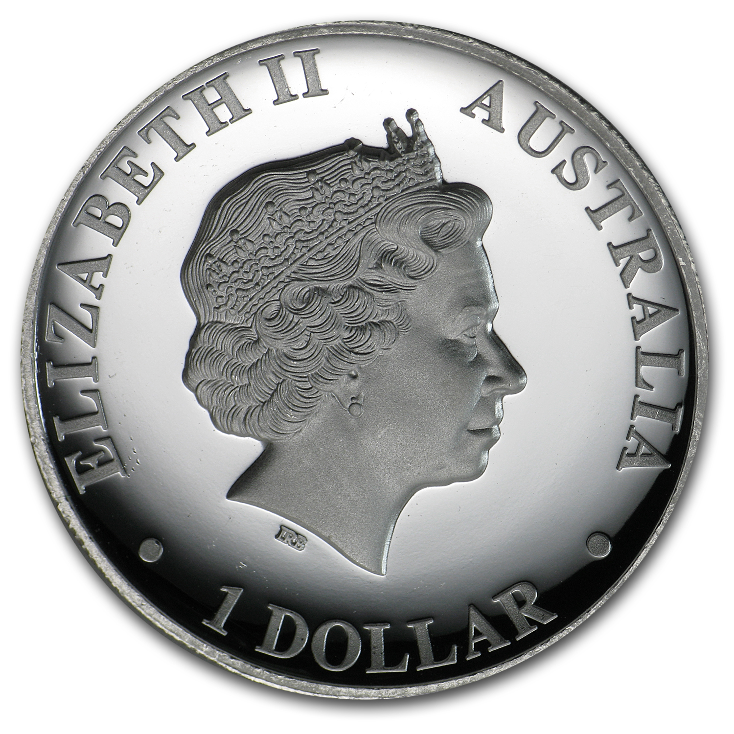 2010 Australia 1 oz Proof Silver High Relief Kangaroo (Abrasions)