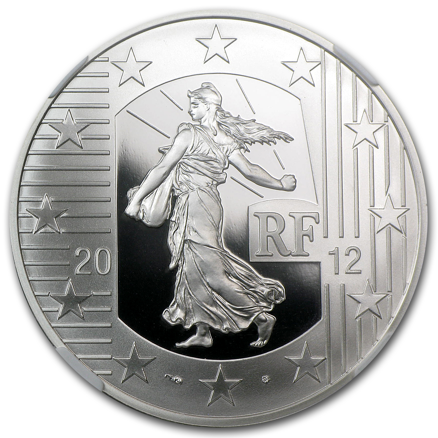 2012 France Silver €10 10th Anniversary of the Euro PF-70 NGC