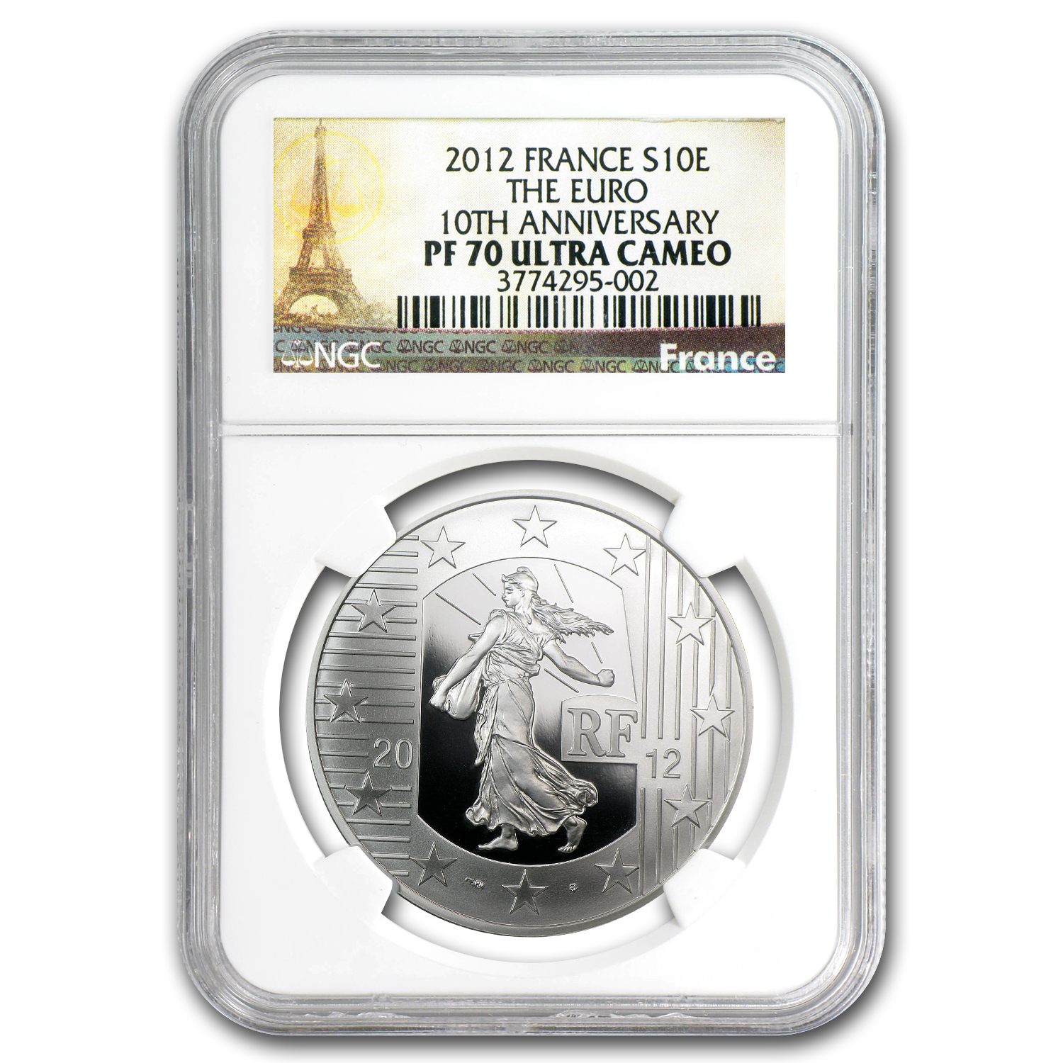 2012 The Sower -10th Anniversary of the Euro - PF-70 UCAM NGC