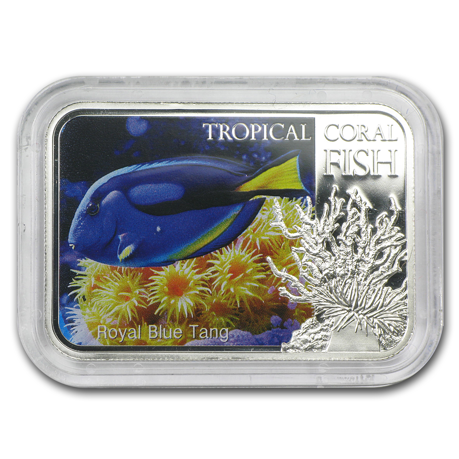 2013 1 oz Silver Niue Tropical Coral Fish - Royal Blue Tang