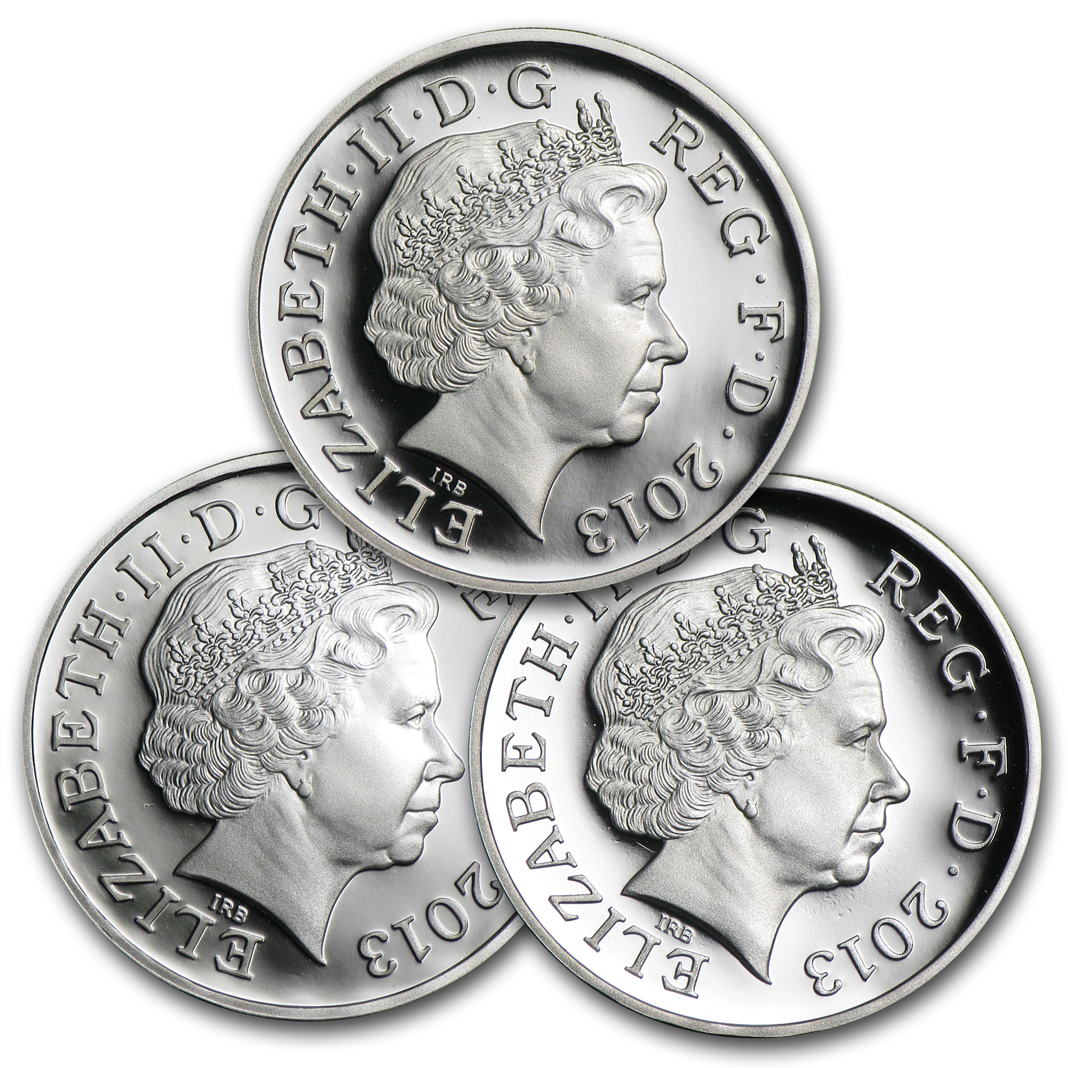 2013 Great Britain 3-Coin Silver £1 Proof Set (30th Anniv)
