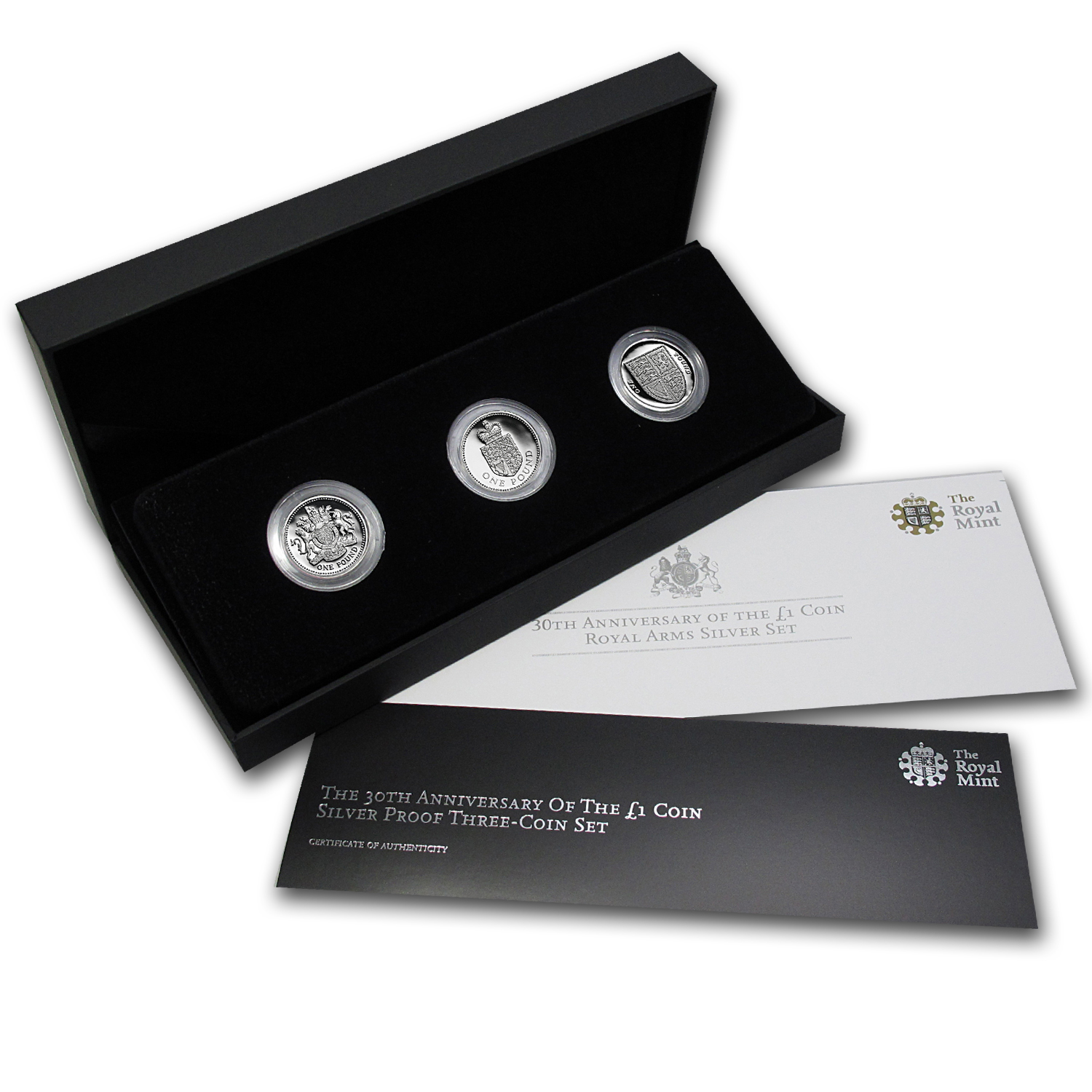 2013 Great Britain £1 Silver Proof 30th Anniv - Three-Coin Set
