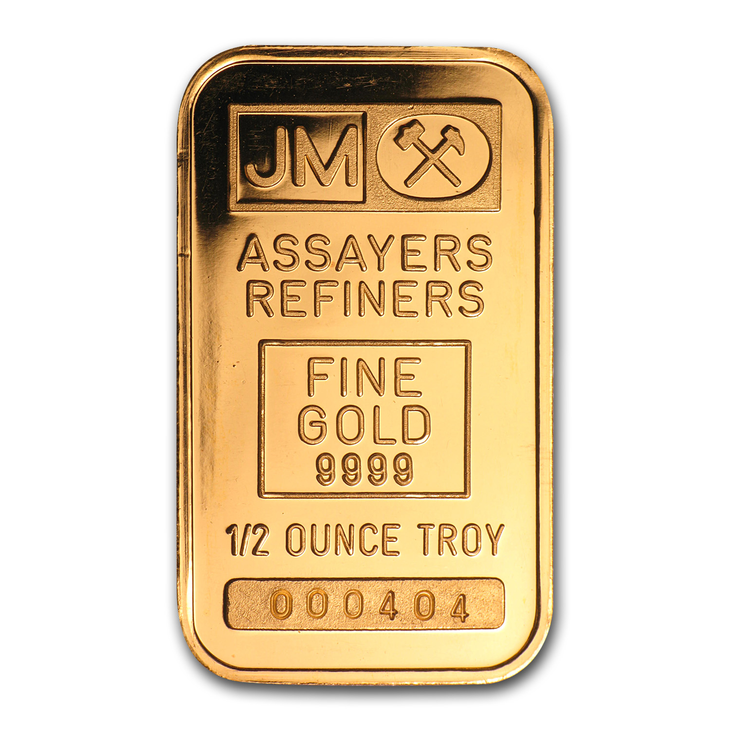 1/2 oz Gold Bar - Johnson Matthey (Plain Back)
