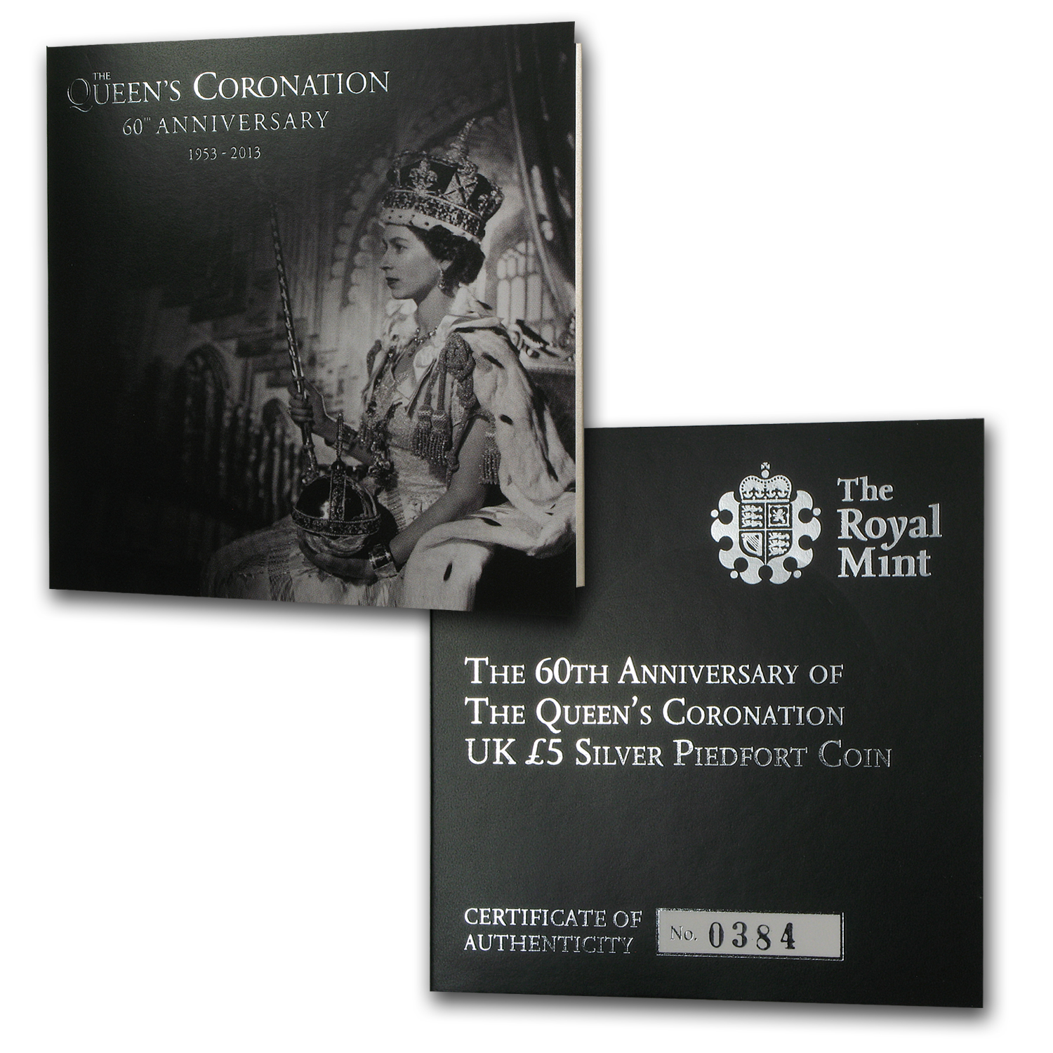 2013 Great Britain Silver £5 Queen's Coronation Anniv. (Piedfort)