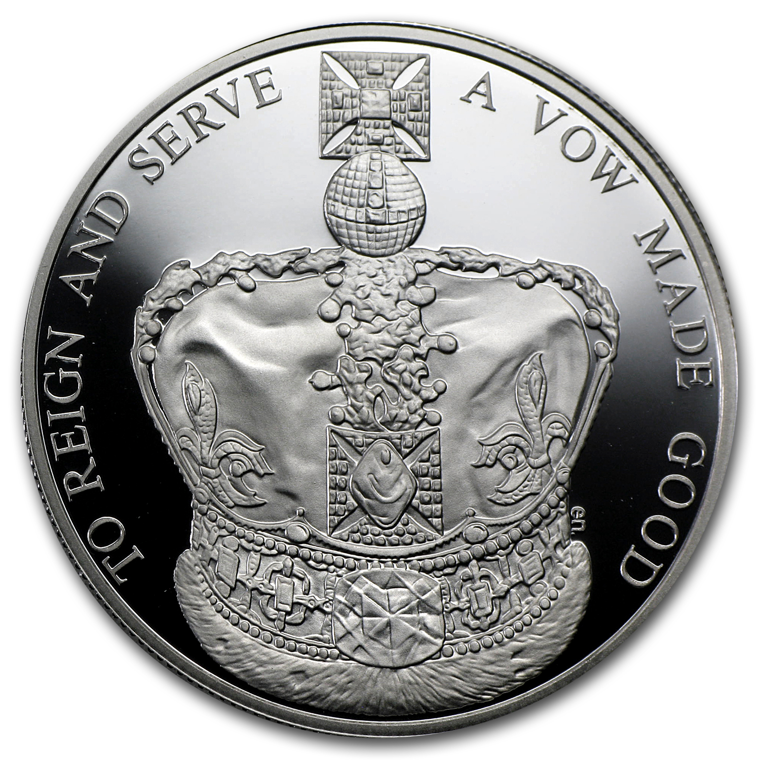 2013 Great Britain £5 Silver Piedfort - Queen's Coronation Anniv.