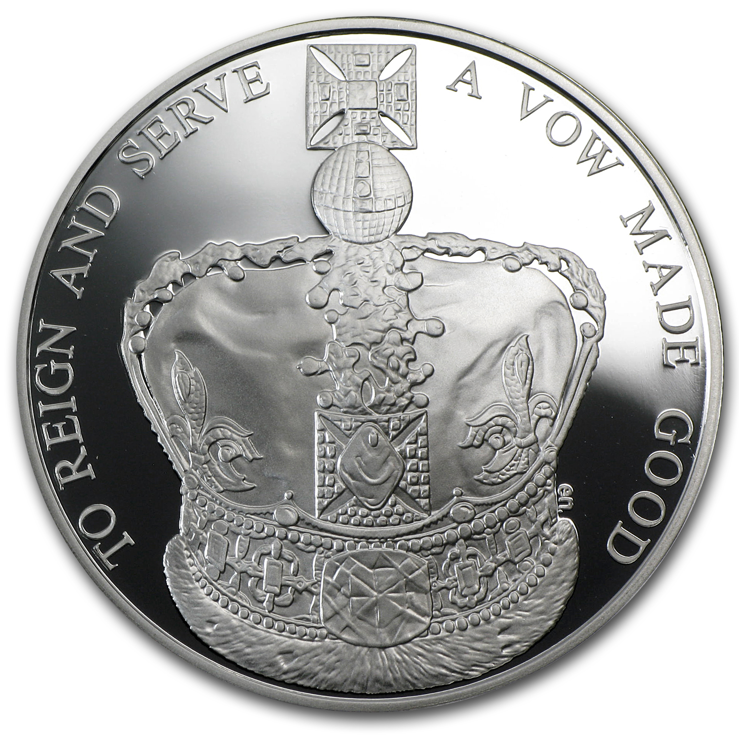 2013 Great Britain Silver £5 Queen's Coronation Anniv. Proof