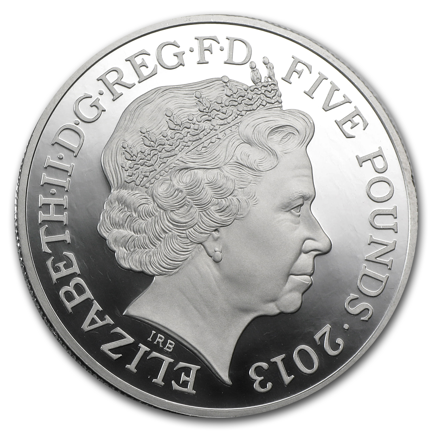 2013 Great Britain £5 Platinum Piedfort - Queen's Coronation Ann.