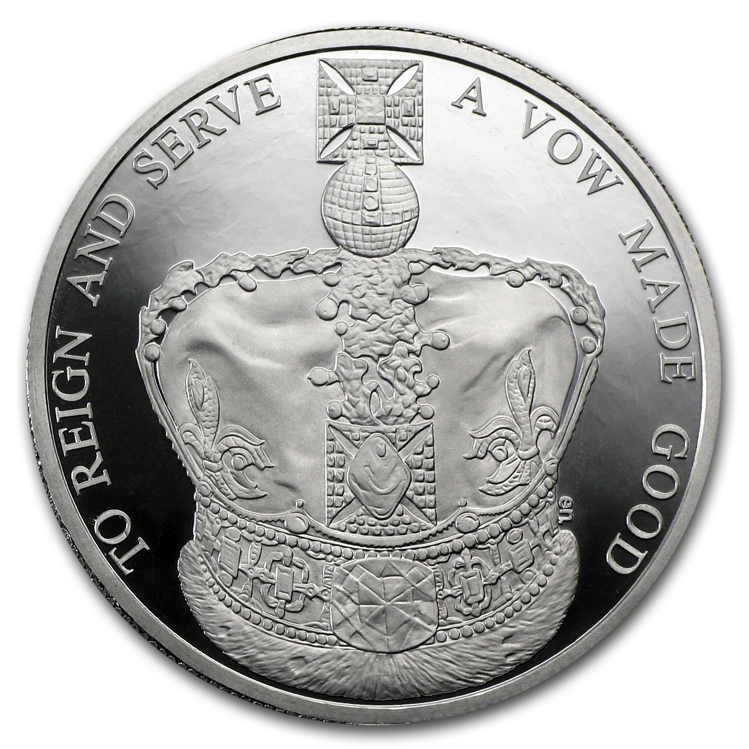 2013 Grt Britain Platinum £5 Piedfort (Queen's Coronation Anniv)