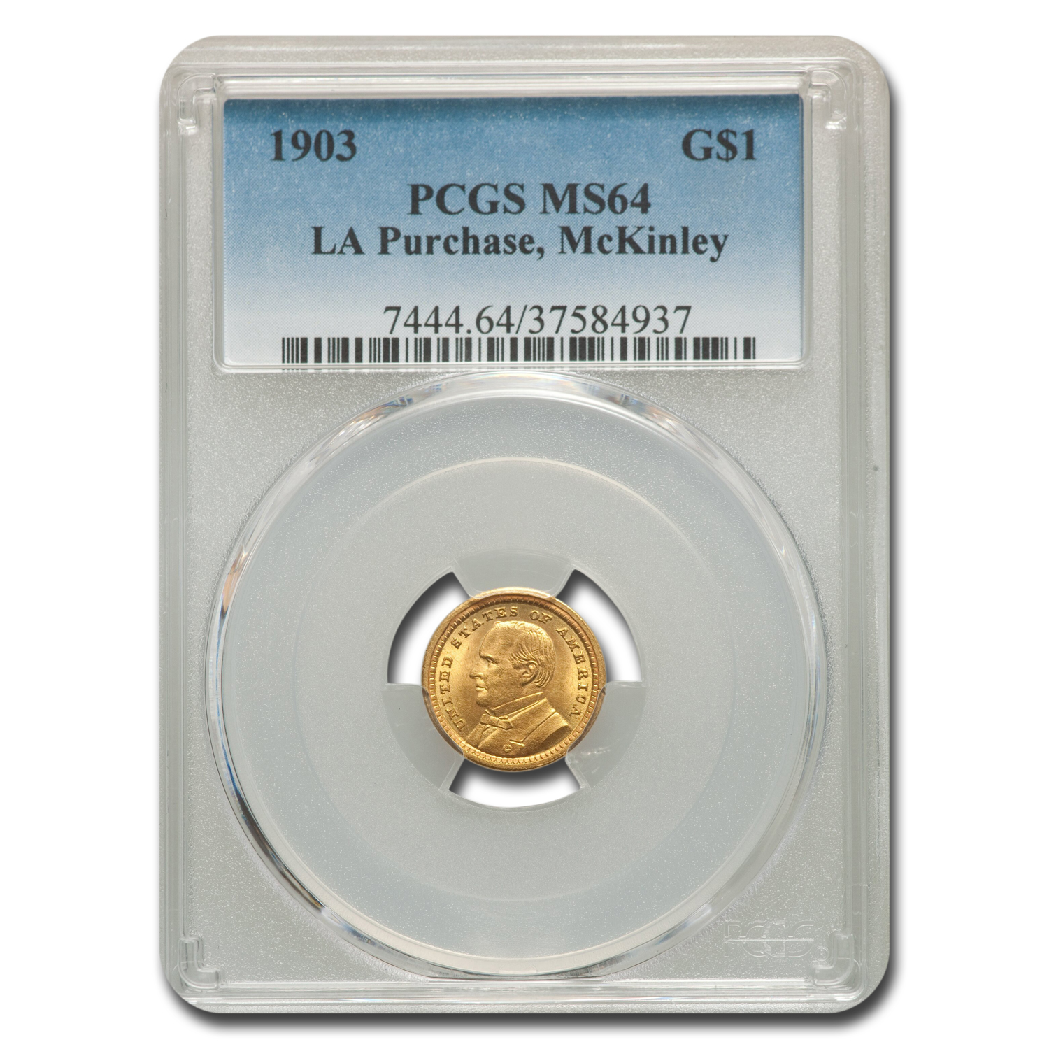 1903 Gold $1.00 Louisiana Purchase McKinley MS-64 PCGS