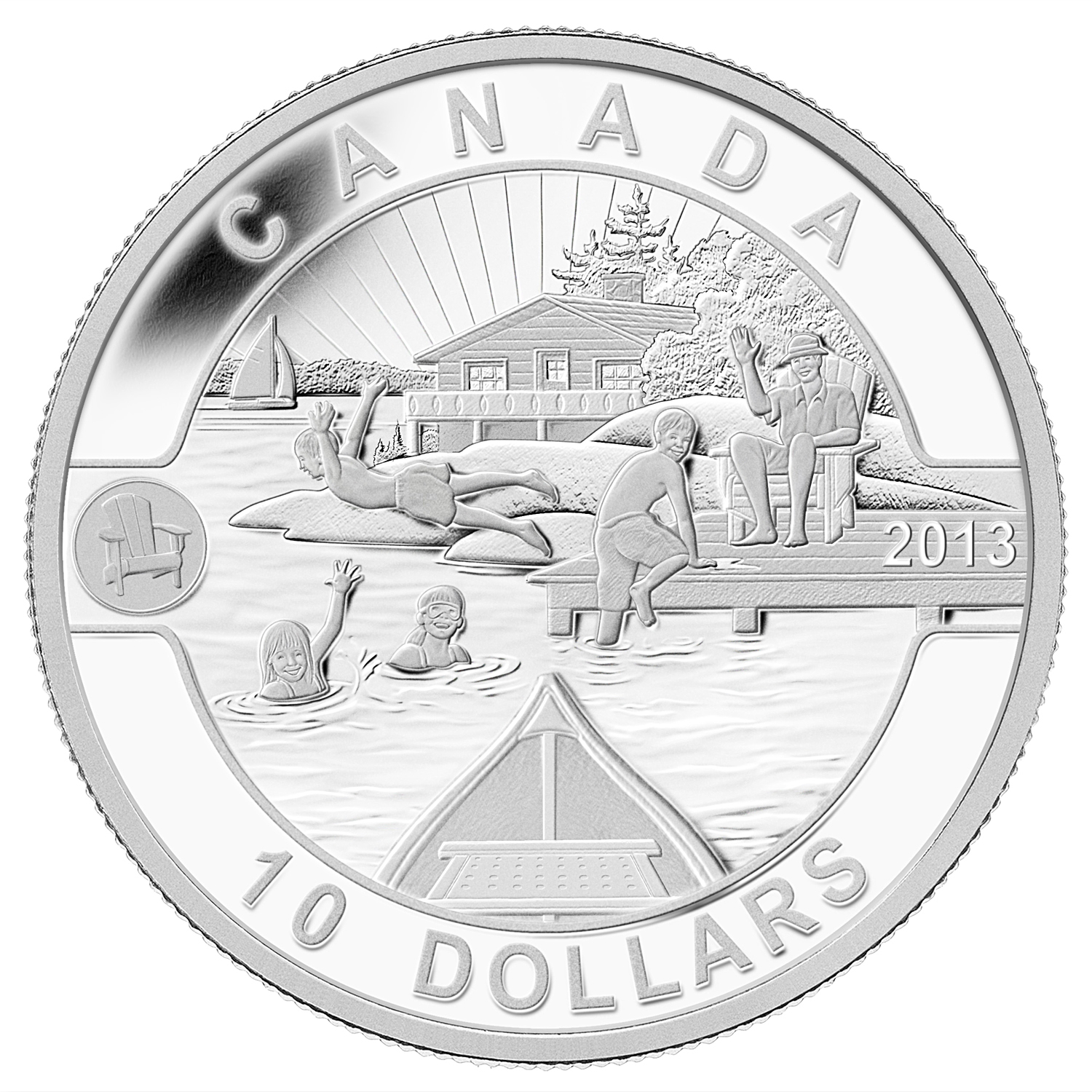 2013 Canada 1/2 oz Silver $10 Summer Fun! (w/Box & COA)