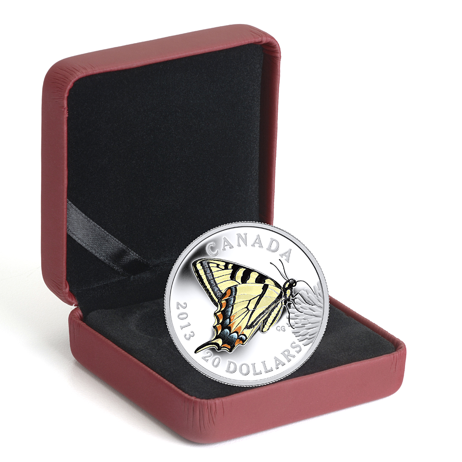 2013 Canada 1 oz Silver $20 Tiger Swallowtail Butterfly #1
