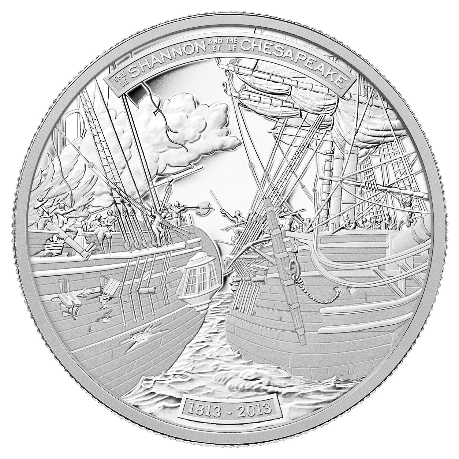 2013 Canada 1 oz Proof Platinum $300 HMS Shannon/USS Chesapeake