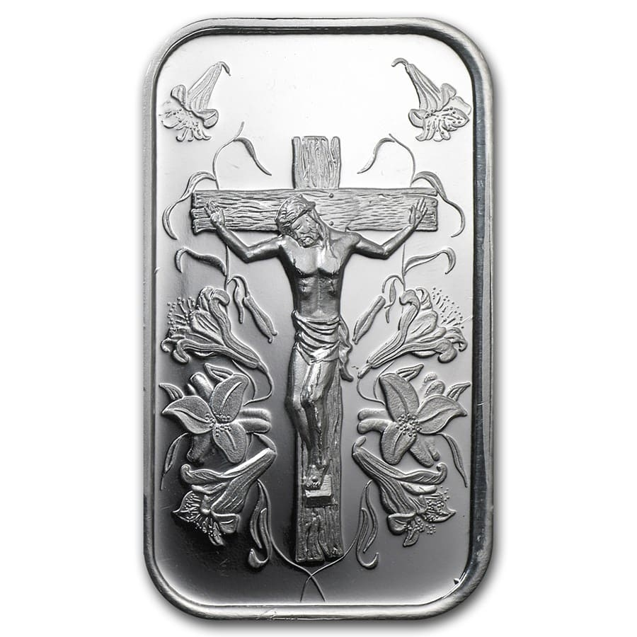 1 oz Silver Bar - Jesus